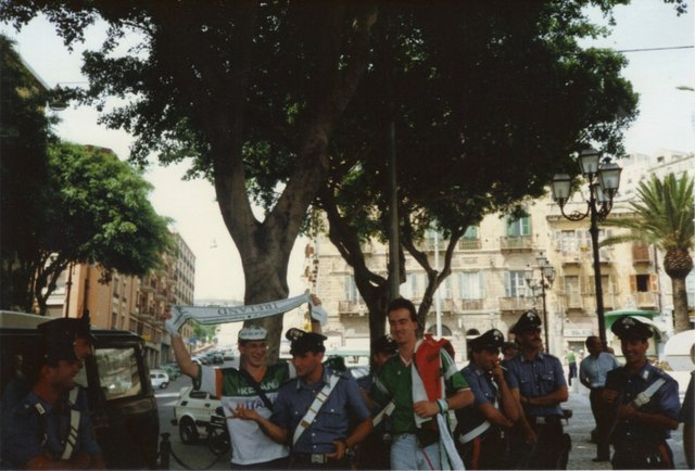 Irish Fans and Carabinieri