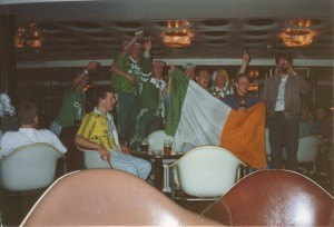 Irish Fans on the Ferry Singing