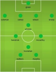 Ireland team v Scotland June 2015