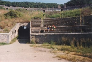 Irish Fans Sitting in Pompei Italia '90