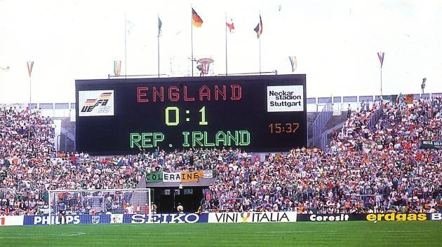 Scoreboard in Stuttgart 1988