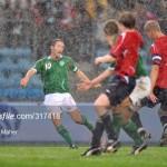 Robbie Keane scores v Norway