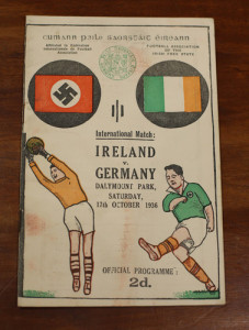 Ireland v German October 1936