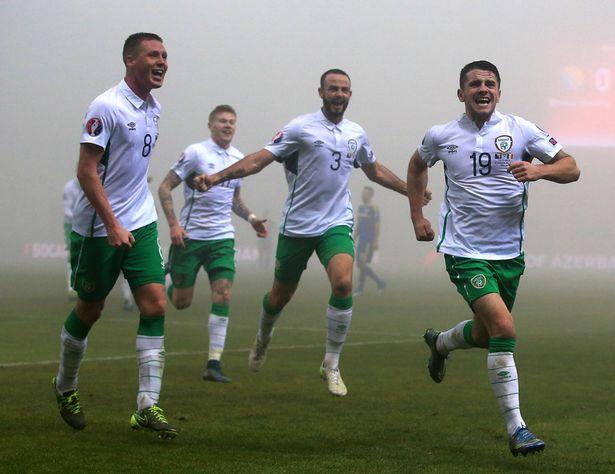 Robbie Brady Celebration