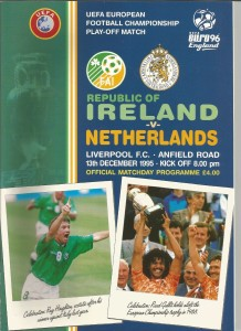 Ireland v Holland Anfield 1996